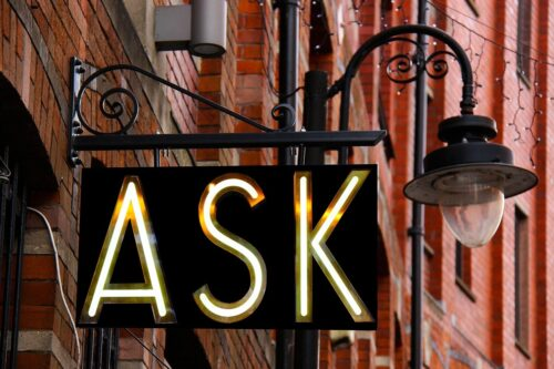 ask, sign, design